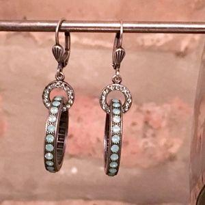 Jewelry - VINTAGE Deco Style Hoop Earrings